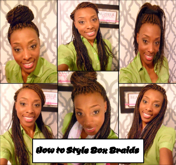 How To Style Box Braids Uniquely Created