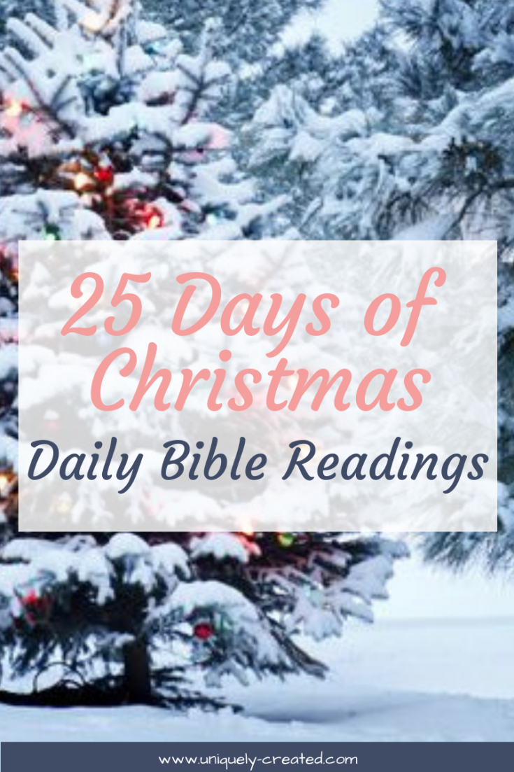 Christmas Readings.25 Days Of Christmas Daily Bible Readings According To Tish